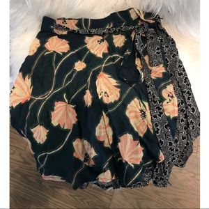 Urban Outfitters Multi Pattern Wrap Skirt